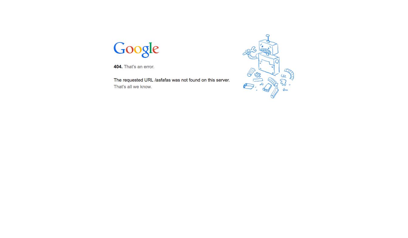 Googleの404